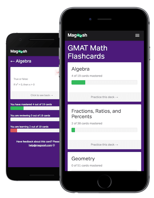 Free GMAT Math Flashcards - Magoosh GMAT