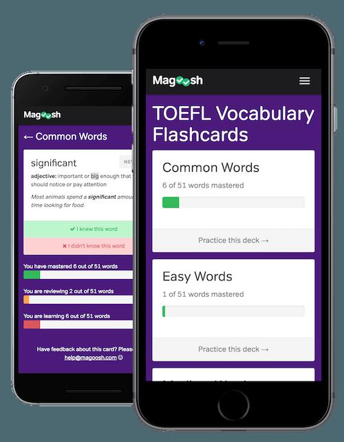 Free TOEFL Flashcards - Magoosh TOEFL
