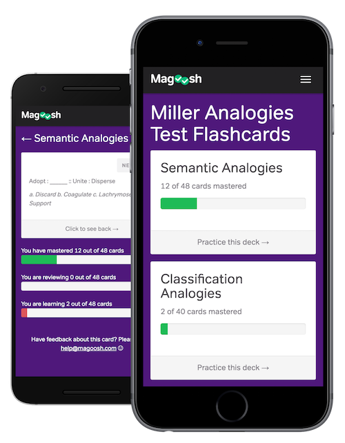 Free Miller Analogies Flashcards - Magoosh GRE